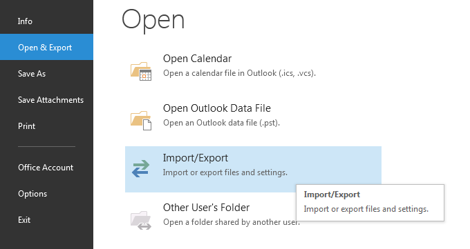 Open or Export