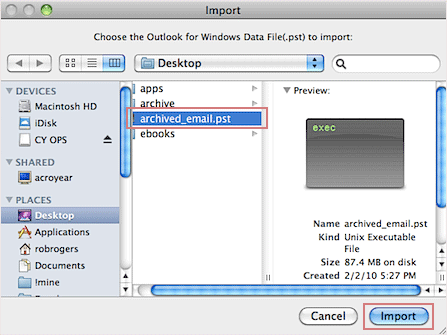 Attach PST file to Outlook 2011 Mac - EmailDoctor Blog for