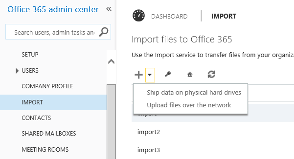 Import PST File into Exchange Online