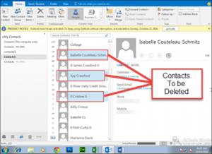 restore Contacts from PST Files