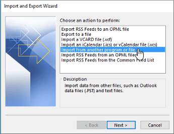 Import Outlook Contacts