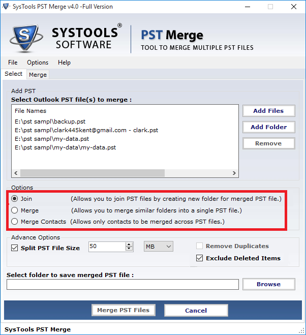 Merge PST File