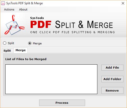 Select Merge tab