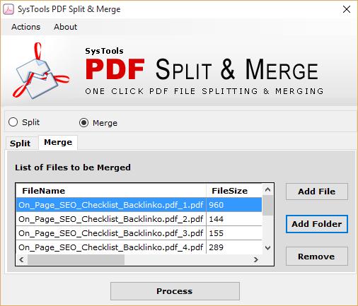Add Folder option