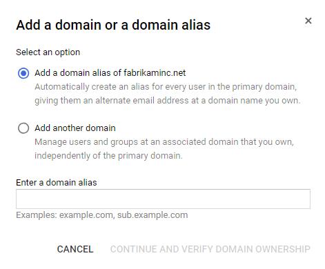 Add domain alias