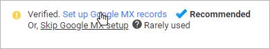 Set Google MX