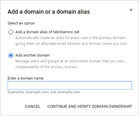 Add domain details