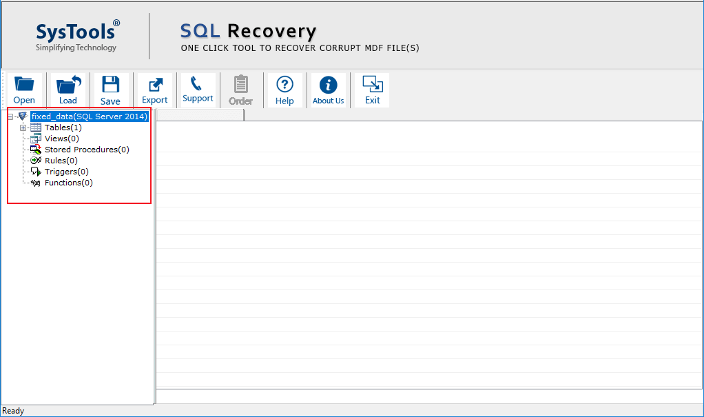 Recover MDF File