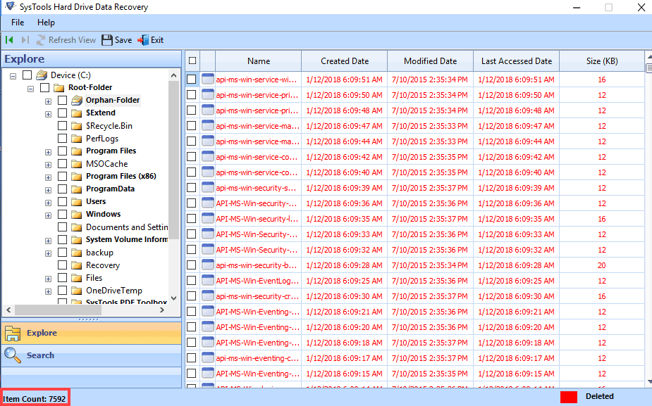 view recovered files