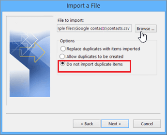 Merge Contacts Folders in Outlook