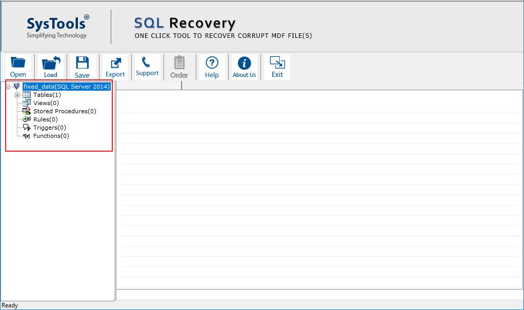 Repair SQL Database MDF