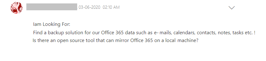 User Query of Office 365