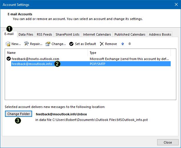 Merge Multiple Inboxes in Outlook