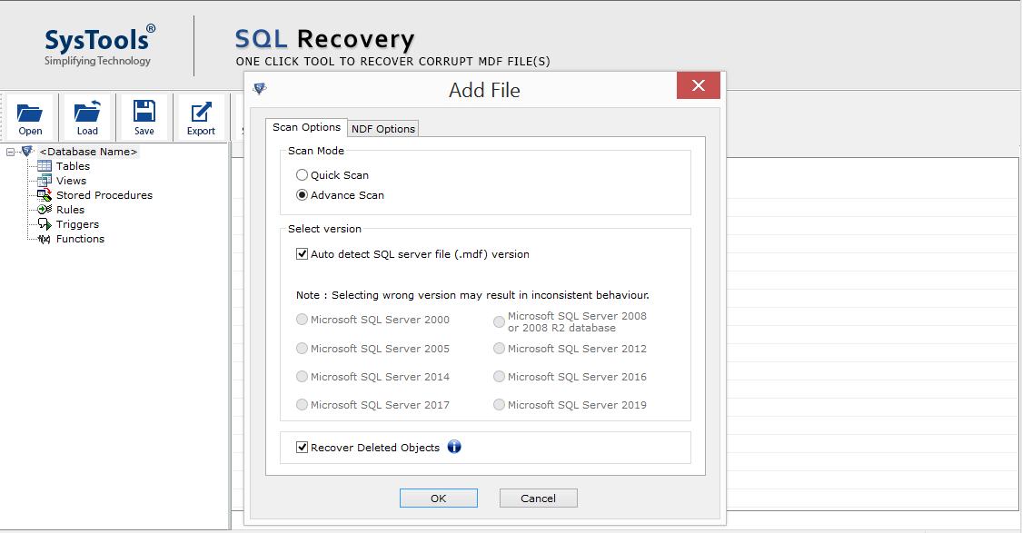 Repair Corrupt SQL MDF File