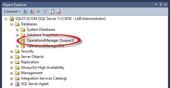 Suspect Database in SQL Server