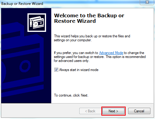 Welcome to Backup or Restores