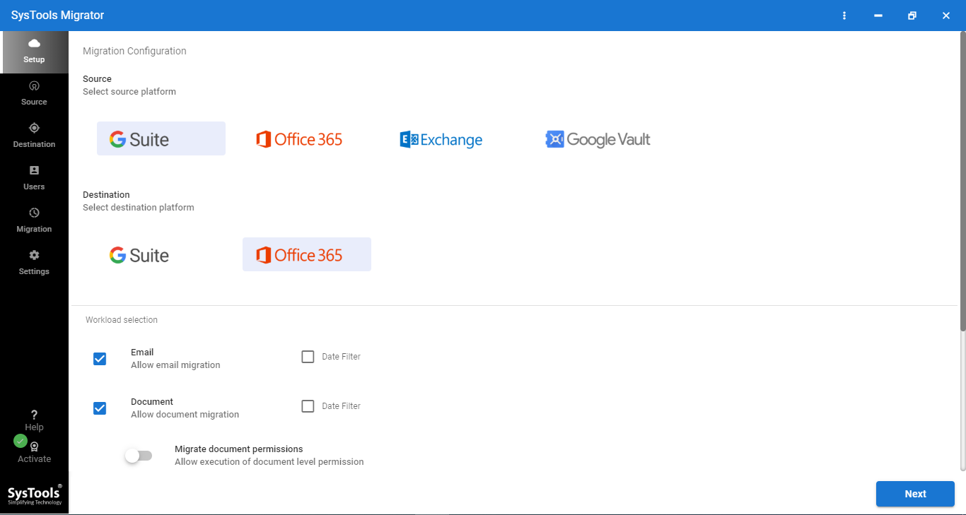 Office 365 Migration from G Suite