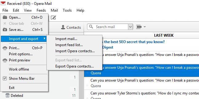 open opera mail