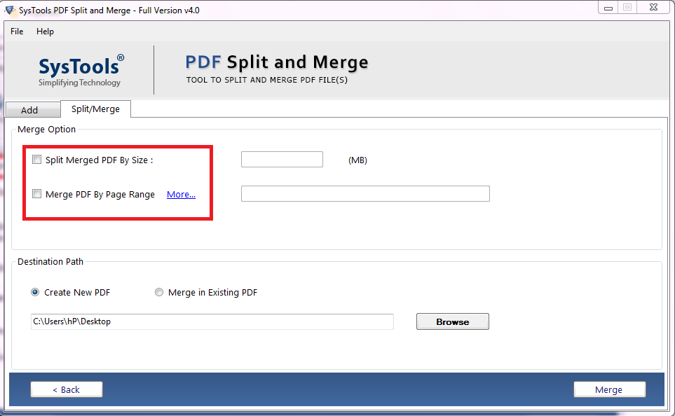 Merge PDF Files Into One