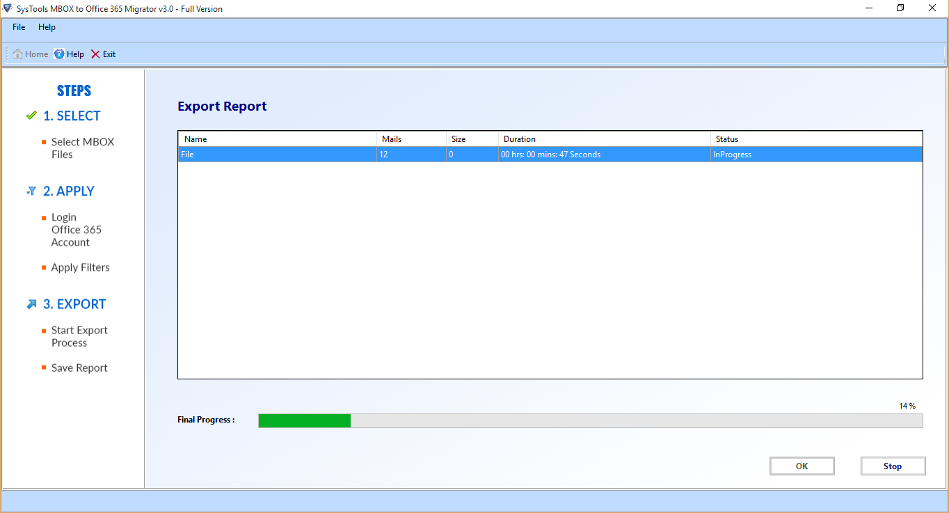 export mbox to O365
