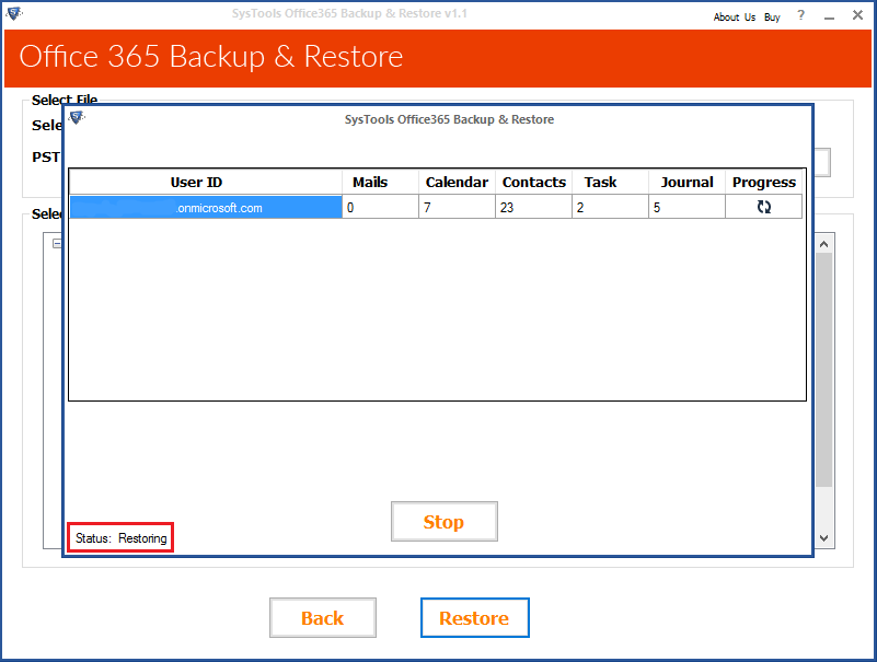 Backup O365 to PST application