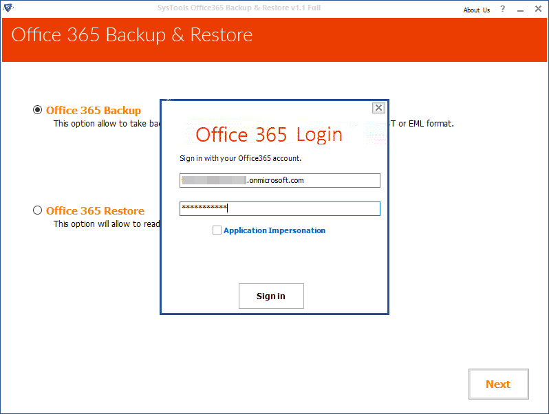Download Backup Office 365