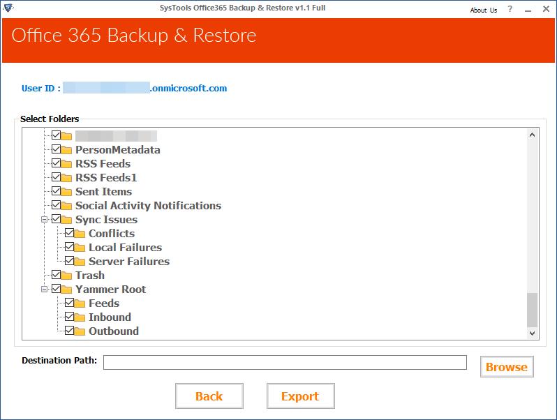 Select O365 Folder