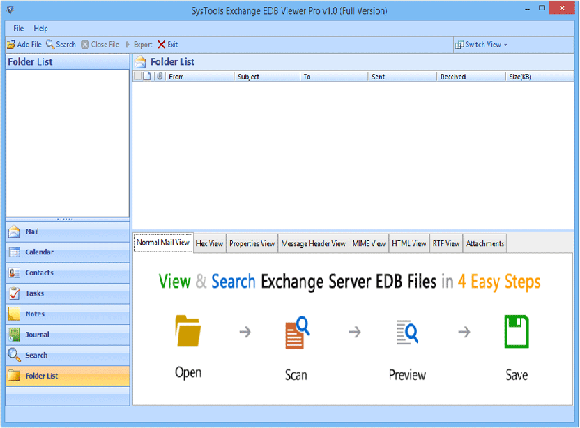 exchange-edb File Reader