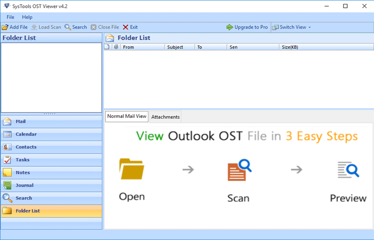 Outlook OST File Reader