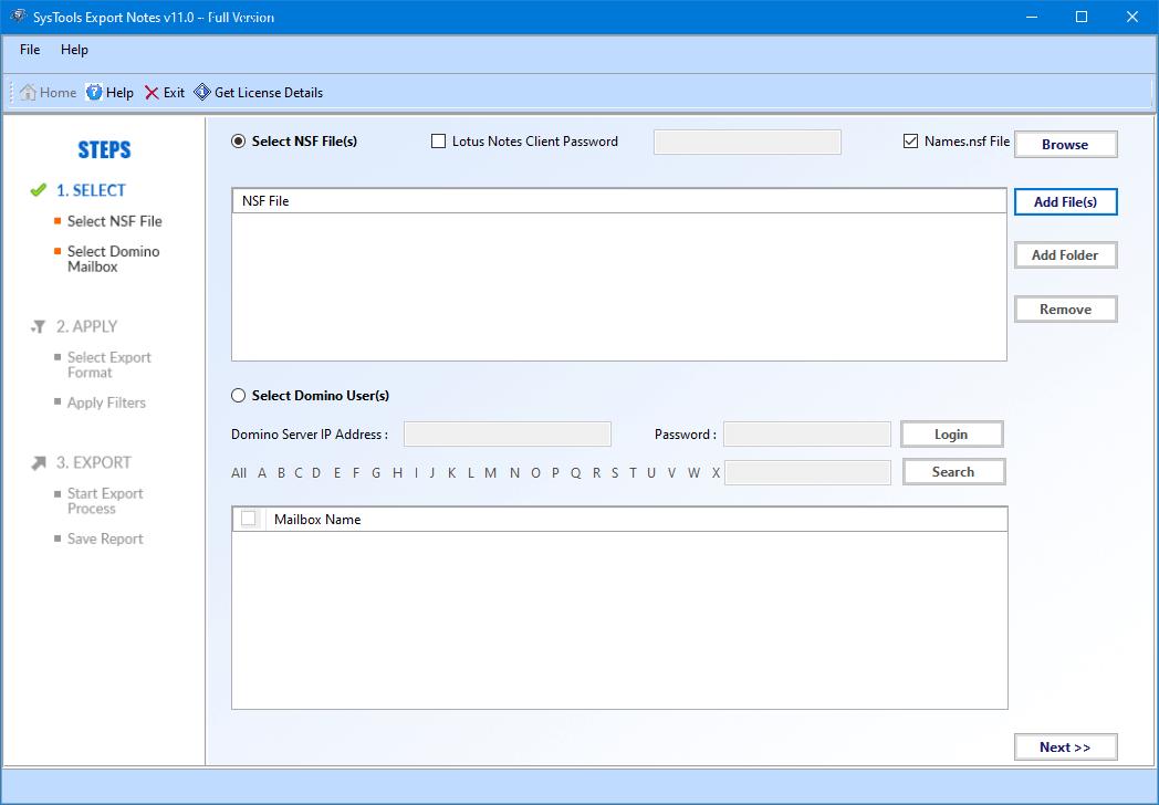 Download Lotus NSF to PST Files Converter Tool