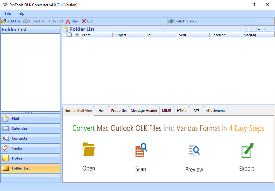 Download OLK to EML conversion tool