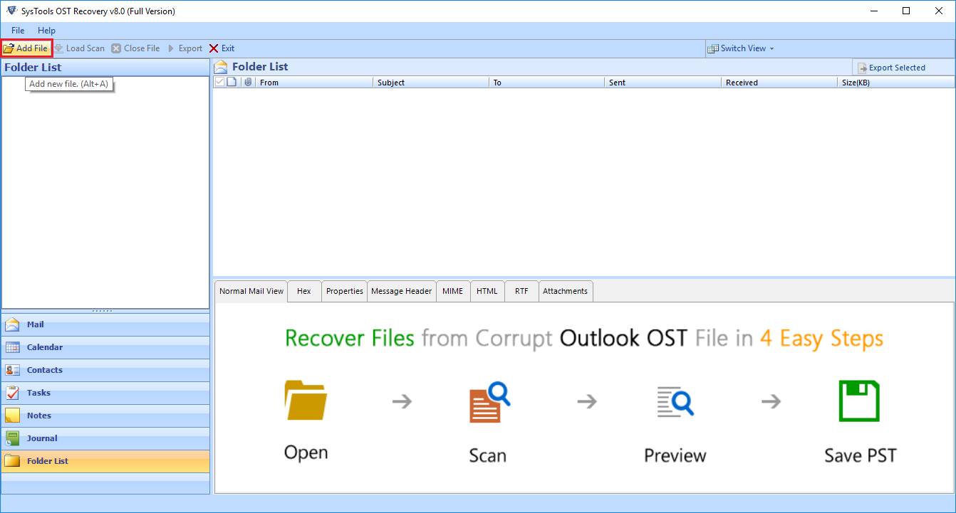 Download OST to PST Exporter Tool