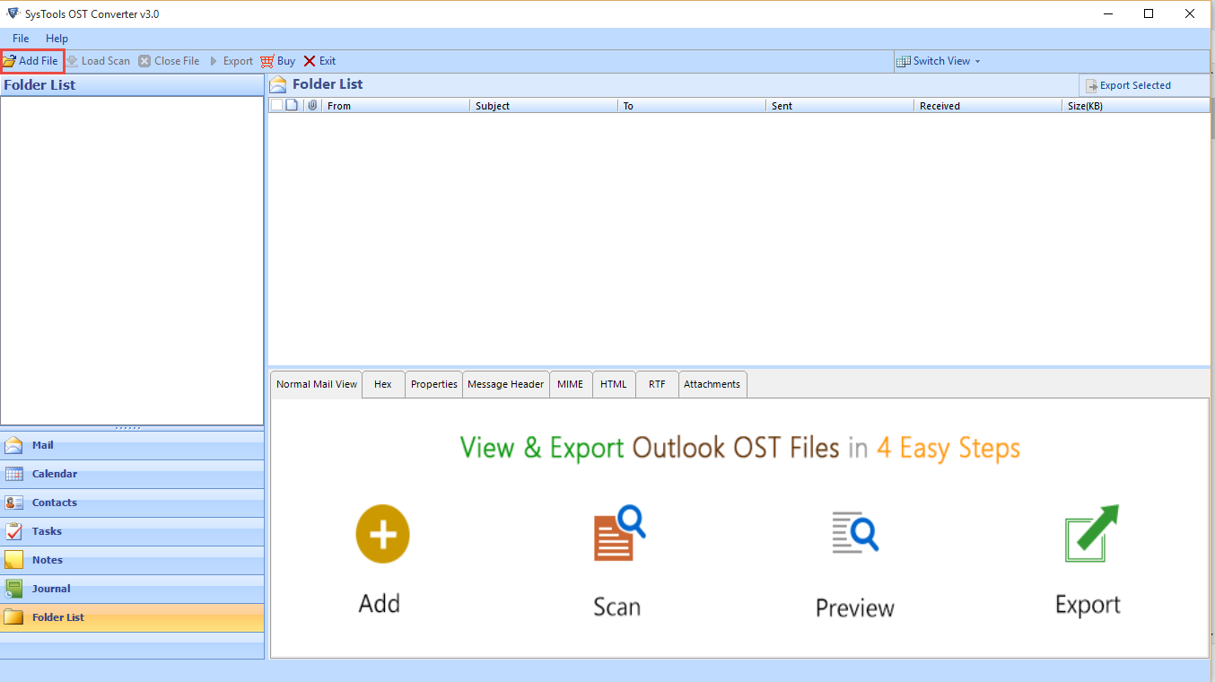 Download OST to PST Extractor Tool