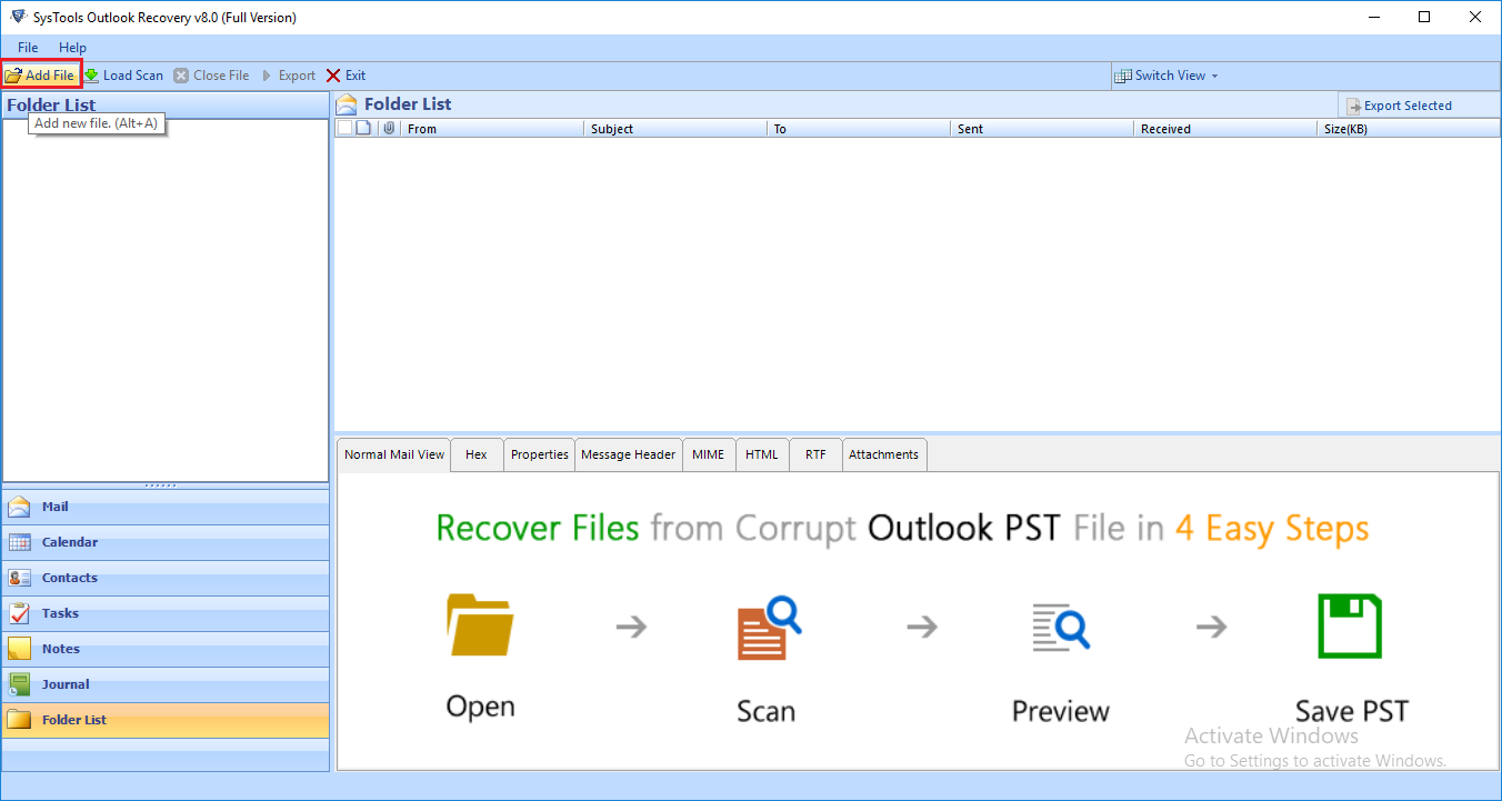 Download Outlook Recovery Tool